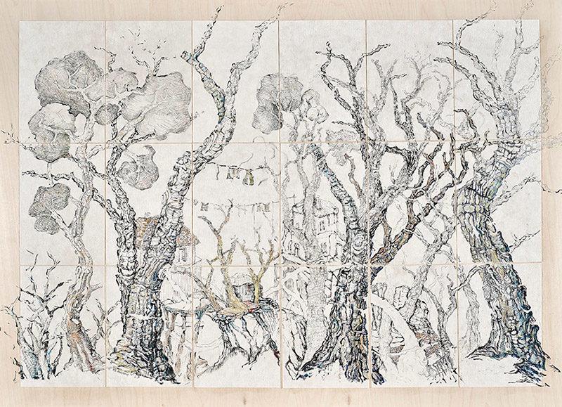 Evripides Art Gallery - Έκθεση ζωγραφικής «meta-synthesis» της Ντένης Θεοχαράκη